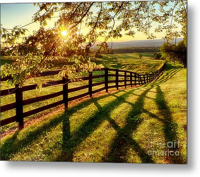 Sussex County Sunset Metal Print by Mark Miller