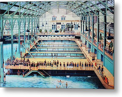 Sutro Baths At The Cliff House Metal Print by Natalie Ortiz