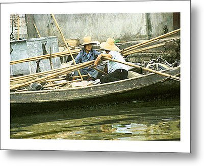 Metal Print featuring the photograph Suzhou Market  by R Thomas Berner
