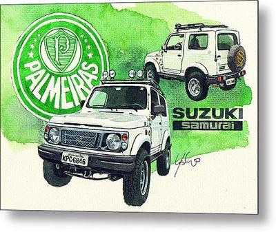 Suzuki Samurai Metal Print by Yoshiharu Miyakawa