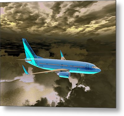 Metal Print featuring the digital art Swa 001 by Mike Ray