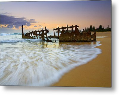 Swallowed By The Tides Metal Print by Mike  Dawson