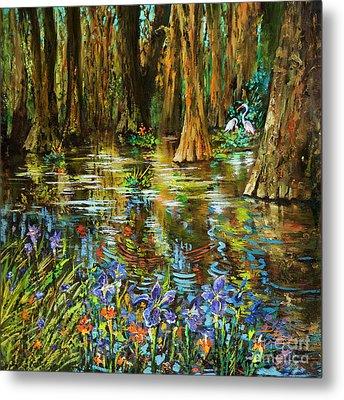Swamp Iris Metal Print by Dianne Parks