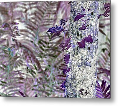 Ferns Of A Different Color Metal Print