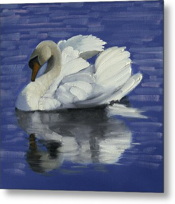 Swan Lake Metal Print by John Reynolds