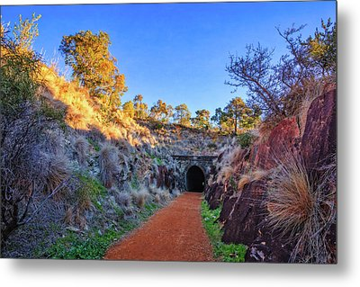 Swan View Railway Tunnel Metal Print