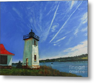 Swans Island Lighthouse Metal Print