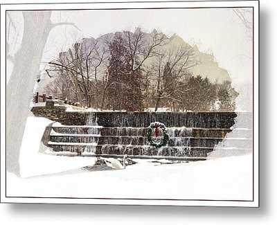 Metal Print featuring the photograph Swansea Dam At Christmas by Robin-lee Vieira