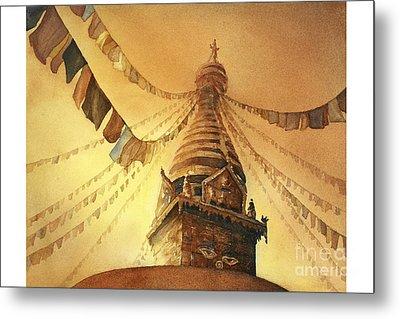 Swayambhnath Buddist Stupa- Nepal Metal Print by Ryan Fox