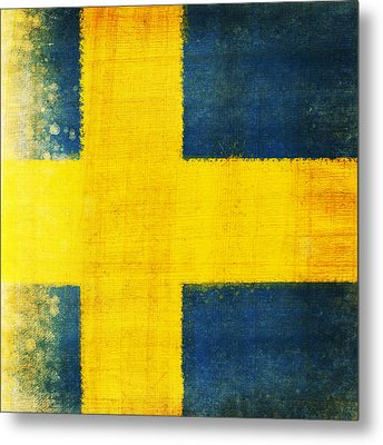 Swedish Flag Metal Print by Setsiri Silapasuwanchai