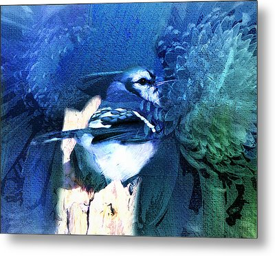 Sweet Blue Bird Metal Print by Georgiana Romanovna