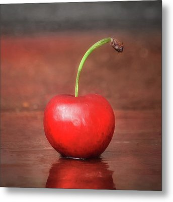 Sweet Cherry Metal Print by Lori Deiter