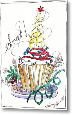Sweet Cupcake Metal Print by Michele Hollister - for Nancy Asbell