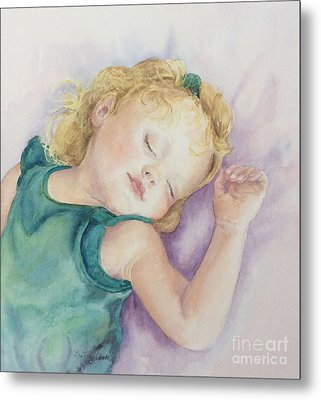 Metal Print featuring the painting Sweet Dreams Lucy by Beatrice Cloake