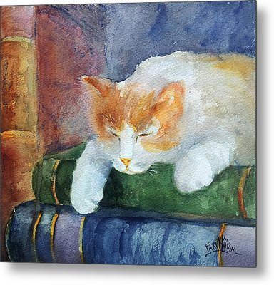 Sweet Dreams On The Books Metal Print by Faruk Koksal