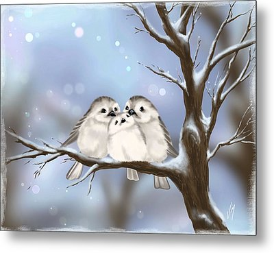 Sweet Family Metal Print by Veronica Minozzi