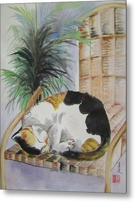 Sweet Nap Metal Print by Lian Zhen