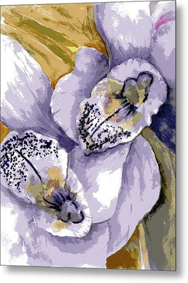 Metal Print featuring the painting Sweet Orchids by Marilyn Barton