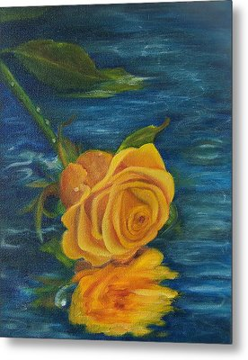 Metal Print featuring the painting Sweet Remembrance Reflected by Susan Dehlinger