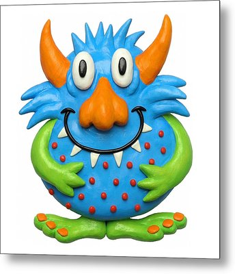 Sweet Spotted Monster Metal Print by Amy Vangsgard