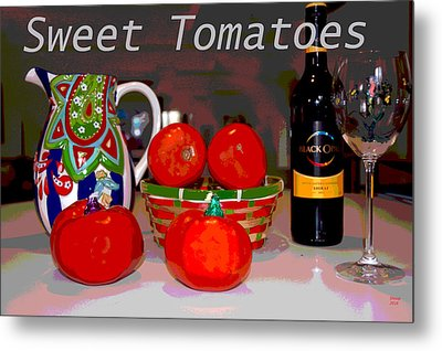 Sweet Tomatoes Metal Print by Charles Shoup