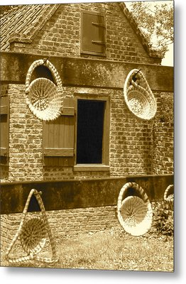 Sweetgrass Baskets And Slave Shack Metal Print by Staci-Jill Burnley
