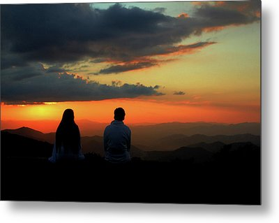Metal Print featuring the photograph Sweetheart Sunset by Jessica Brawley