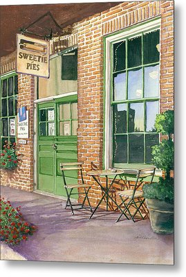Metal Print featuring the painting Sweetie Pies Bakery by Gail Chandler