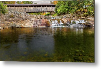Swiftwater Covered Bridge Metal Print by Bill Wakeley