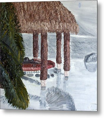 Swim To A Beach Bar Cool Huh Metal Print