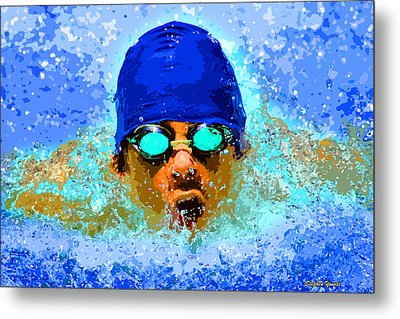 Swimmer Metal Print by Stephen Younts