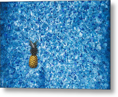 Swimming Pool Days Metal Print by Happy Home Artistry