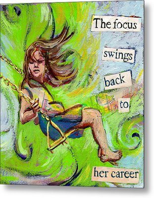 Swing Metal Print by Tilly Strauss