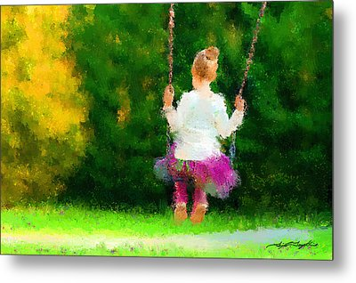 Swing Time Impressionistic Metal Print by Tim Tompkins