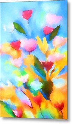 Swinging Flowers Metal Print by Lutz Baar