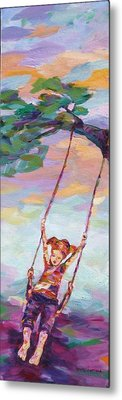 Swinging With Sunset Energy Metal Print by Naomi Gerrard