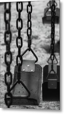 Metal Print featuring the photograph Swings by Richard Rizzo