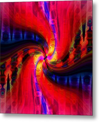 Metal Print featuring the photograph Swirl Delight by Cherie Duran
