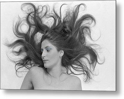 Swirl Girl Metal Print