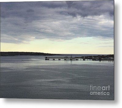 Swirling Currents On Casco Bay Metal Print