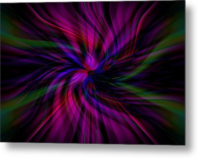 Metal Print featuring the photograph Swirls by Cherie Duran