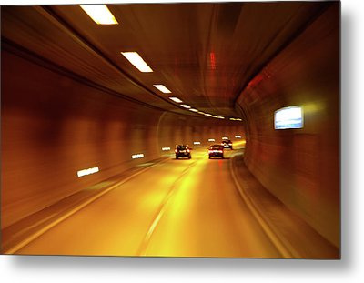 Metal Print featuring the photograph Swiss Alpine Tunnel by KG Thienemann