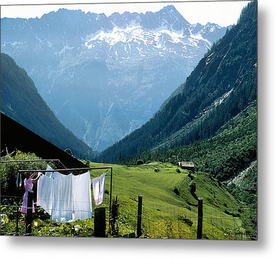 Swiss Laundry Metal Print