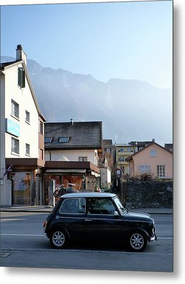 Metal Print featuring the photograph Swiss Mini by Christin Brodie