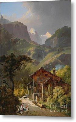 Swiss Mountain Landscape  Metal Print