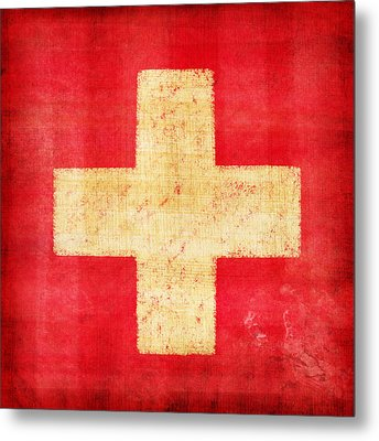 Switzerland Flag Metal Print by Setsiri Silapasuwanchai