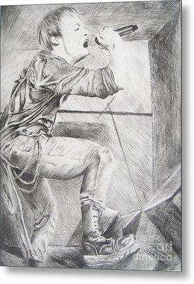 Sybreed - Ben Nominet Metal Print by Melissa Gallardo