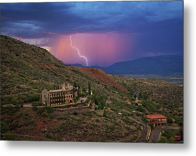Metal Print featuring the photograph Sycamore Canyon Lightning With Little Daisy by Ron Chilston