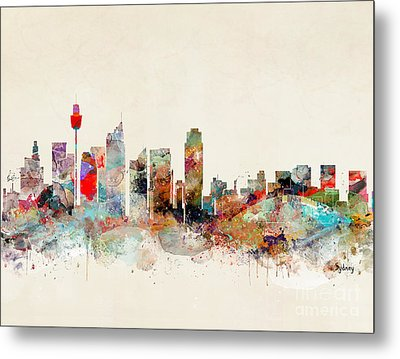 Metal Print featuring the painting Sydney Australia by Bri B