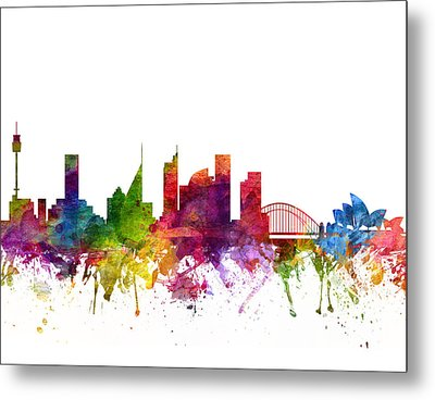 Sydney Australia Cityscape 06 Metal Print by Aged Pixel